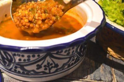 soupe de lentilles marocaine