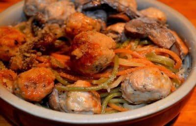 spaghetti au poulet 30 minutes