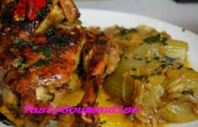 Tajine Marocain de Poulet au Fenouil