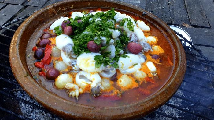 Recette de Calamar à La Marocaine