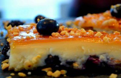 Flan Aux Fruits Secs et Myrtilles