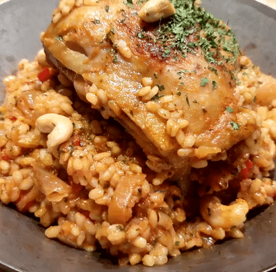 poulet au curry riz