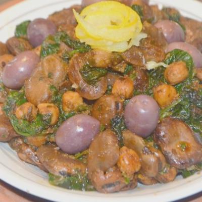 salade de fèves et aux épinards