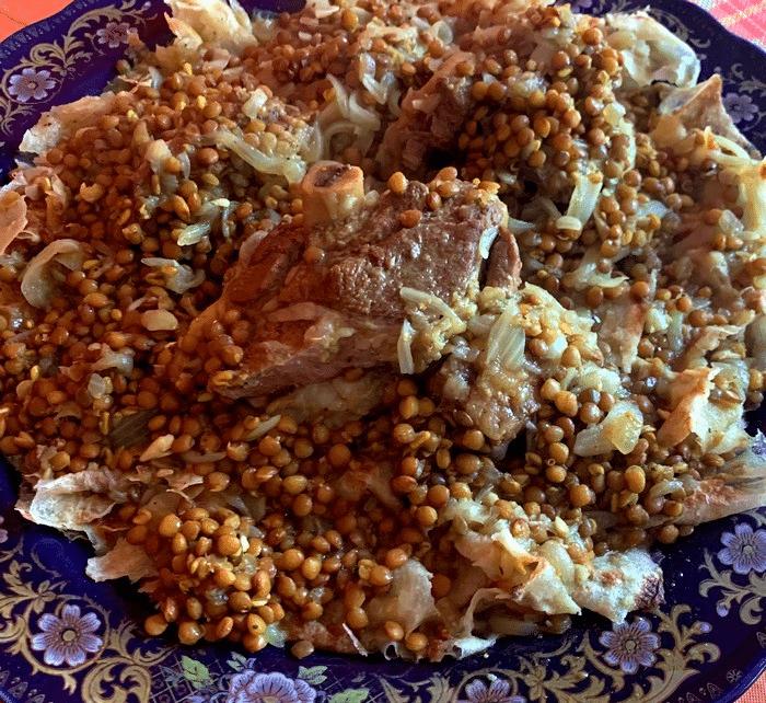 Plat De Rfissa De L'Agneau Traditionnel D'Eid El kbir