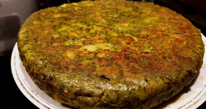 Tortilla Aux Épinards Et Pomme de Terre Healty Et Facile