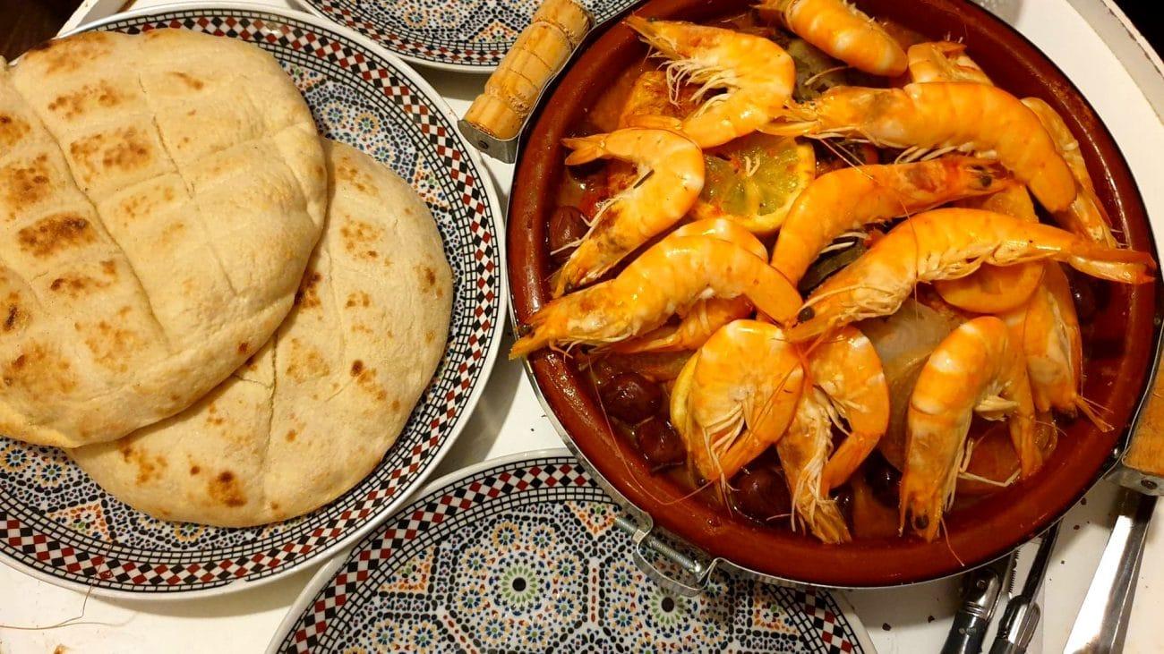 Tajine Marocain De Poisson Et Crevettes Trés savoureux