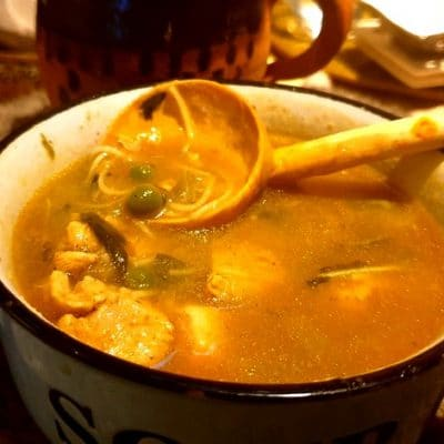 soupe poulet avec tedouira